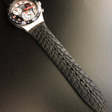 Swatch watch strap that looks like a tyre