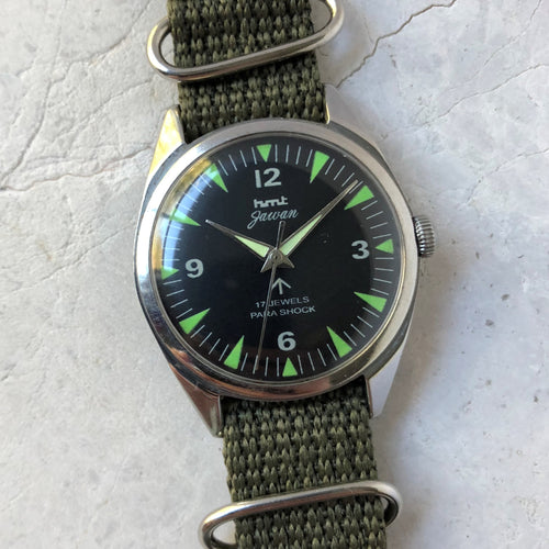 Vintage HMT military watch