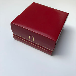 Vintage watch box with gold Omega logo