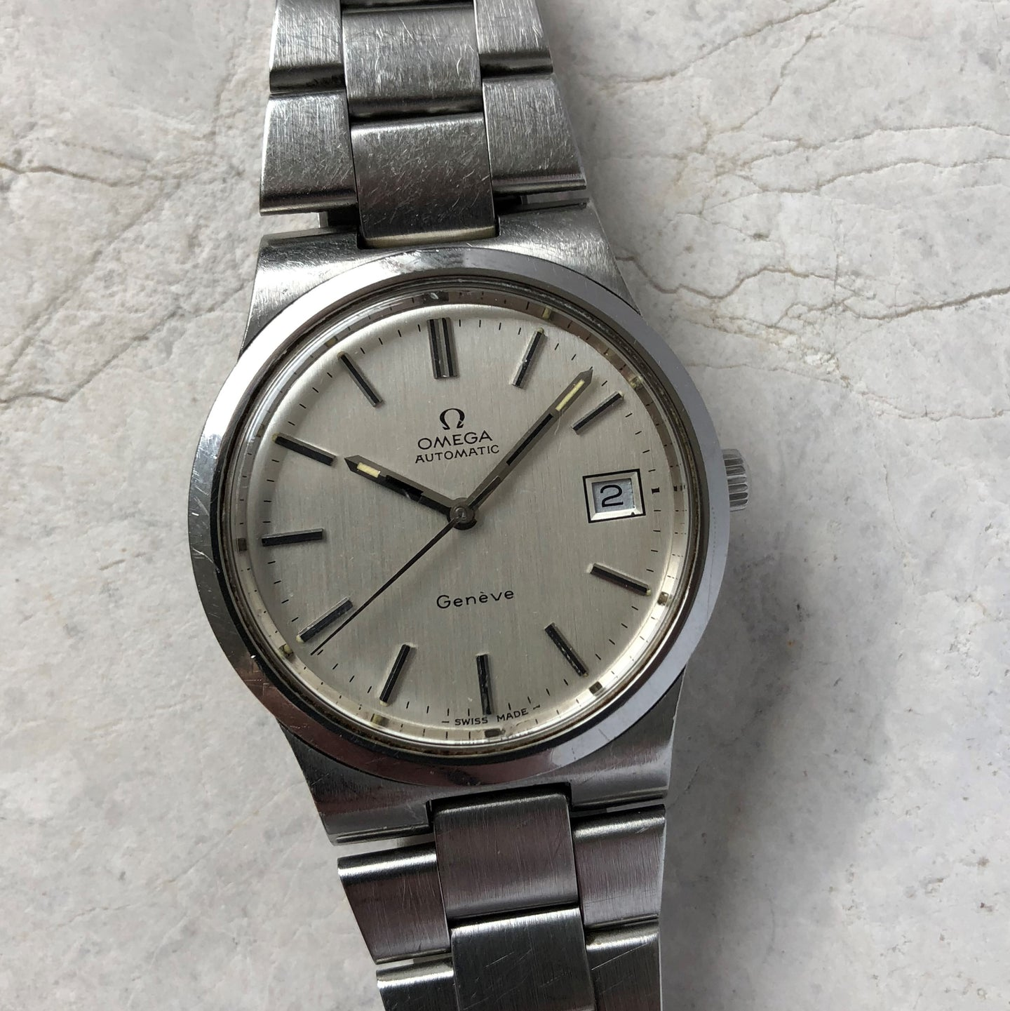 1970's steel Omega watch