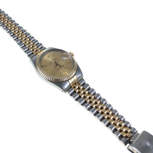 Stainless steel and 18 ct gold jubilee bracelet