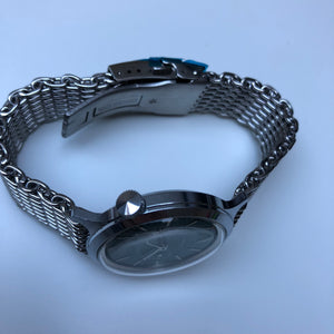 watch with mesh bracelet