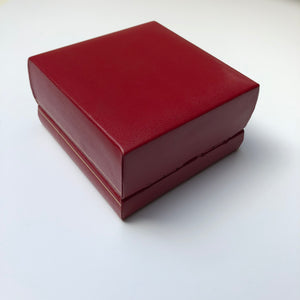 Vintage red watch box