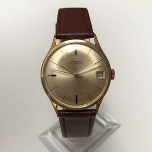 Vintage Junghans watch with leather strap