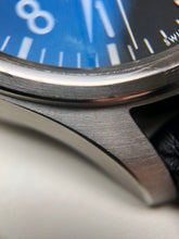Brushed surface stainless steel case IWC watch