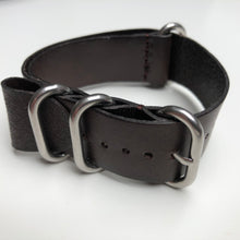 Brown leather ZULU strap