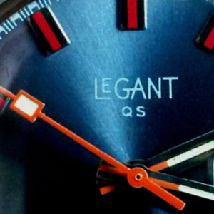 le gant watch dial blue orange