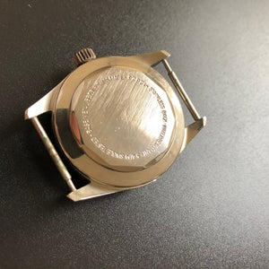 chrome-plated watch case