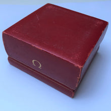 Red Omega watch box