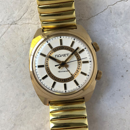 Vintage Poljot watch in gold