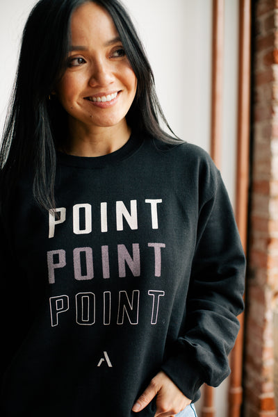 Point Crewneck Sweatshirt - Black