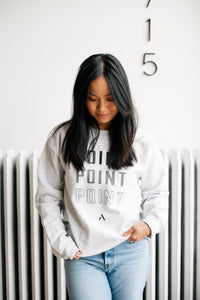 Point Crewneck Sweatshirt - Grey