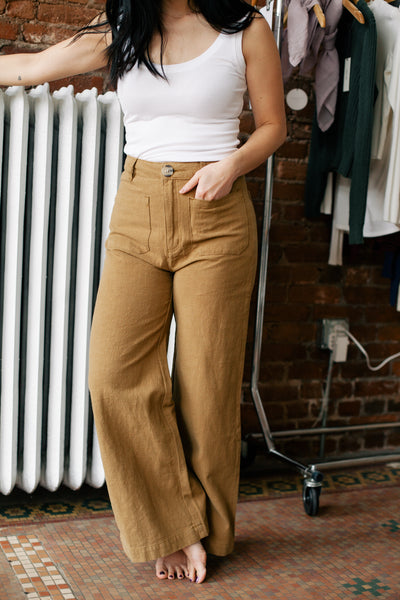 Sailor Ramie Pant - Tobacco (FINAL SALE)