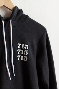 715 Hoodie - Dark Heather Grey