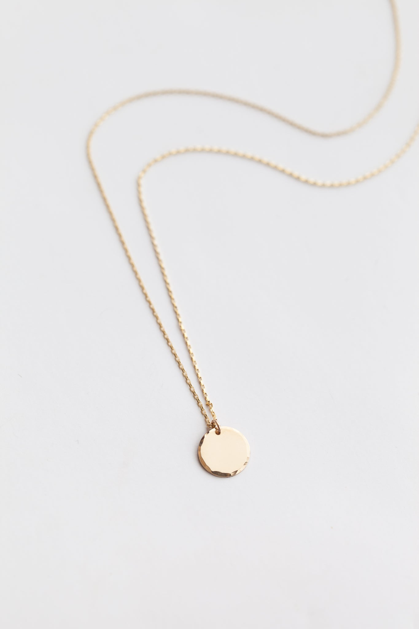 Mini Coin Necklace - Gold Fill