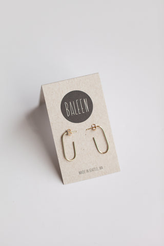 Tulip Hoops- Gold Small