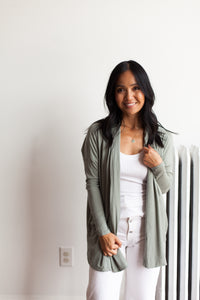 Pocket Cardigan - Sage