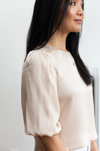 Sleeve Me In Charge Top - Alabaster (FINAL SALE)