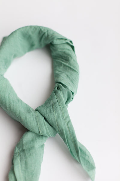 Fine Organic Cotton Neck Scarf - Jade (FINAL SALE)