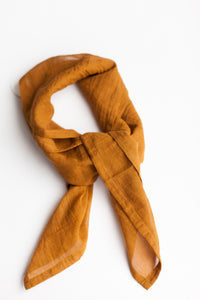 Fine Organic Cotton Neck Scarf - Bourbon