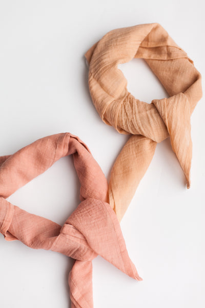 Fine Organic Cotton Neck Scarf - Grapefruit