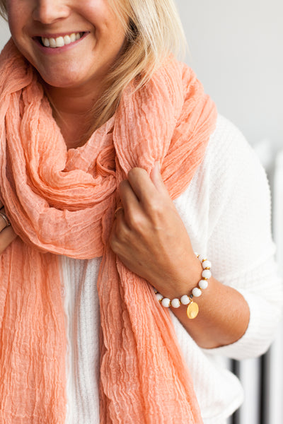 Cotton Giant Scarf - Grapefruit