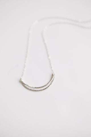East + West Necklace - Sterling Silver