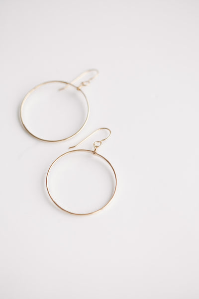 Petite Circle Hoops - Gold Fill