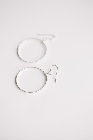 Petite Circle Hoops - Sterling Silver