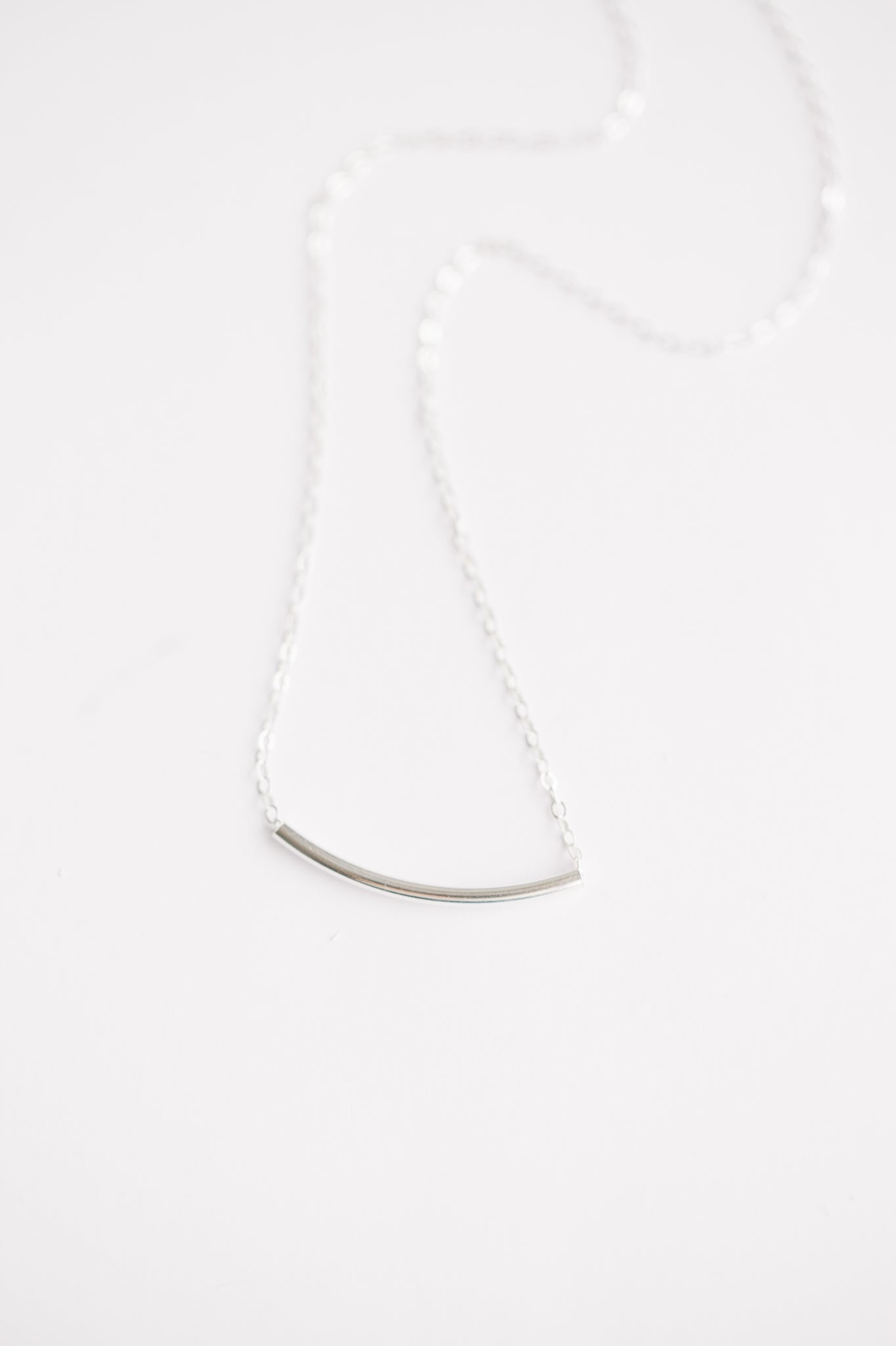 Noodle Necklace -- Sterling Silver