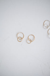 Doublet Hoops - 14k Gold Fill
