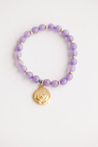 Purple Jade w/ Lotus Charm