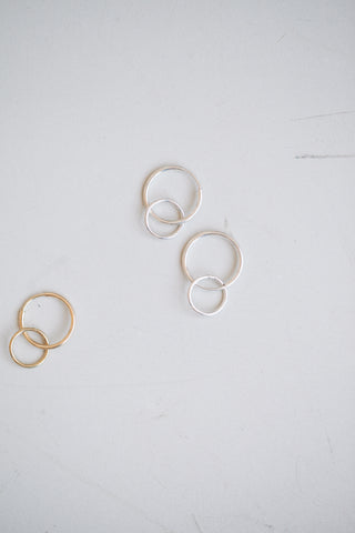 Doublet Hoops - Sterling Silver