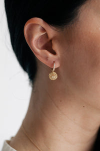 Medium Huggie Earring - Coin