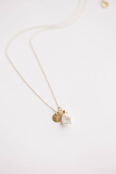 Trio Charm Necklace - Pearl