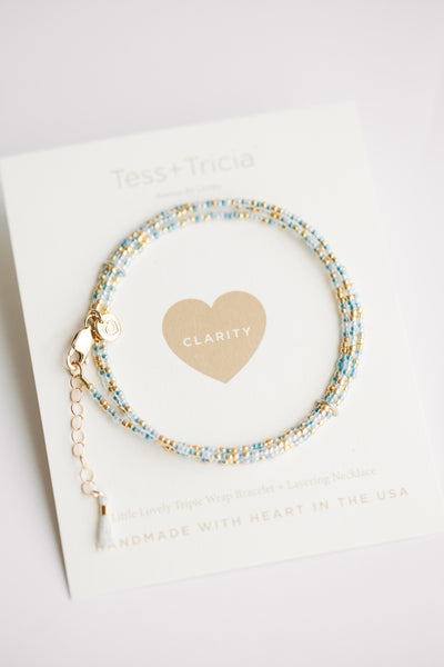 Little Lovelies - Clarity/ Aqua Blue+Gold (FINAL SALE)