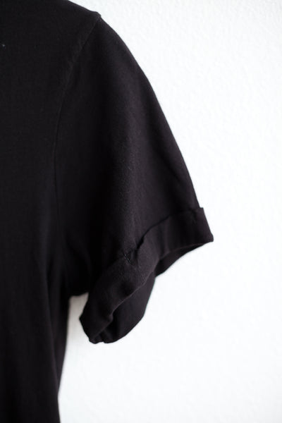 Roll Sleeve Staple Vee  - Black