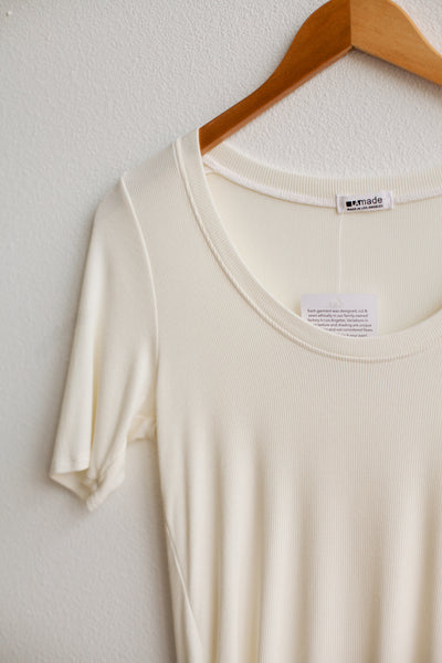 You Half Basic Top - La Crema