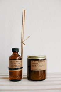 Reed Diffuser - Amber + Moss