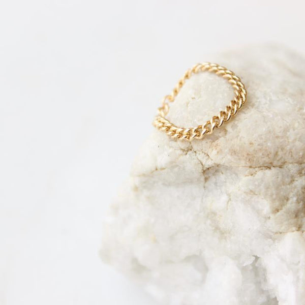 Dani Chain Ring - 14kt Gold Fill