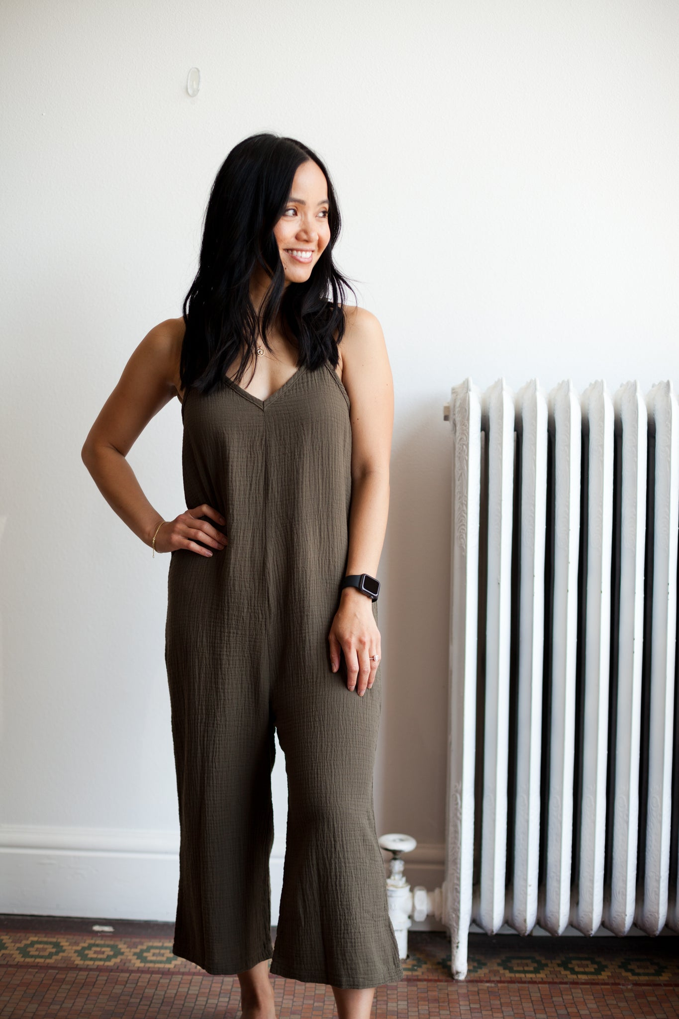Cami Jumpsuit - Green (FINAL SALE)