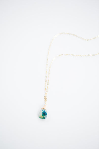 Peruvian Opal Necklace - Gold