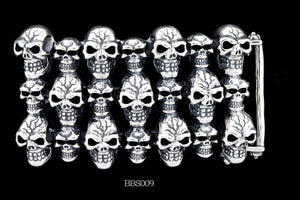 Stacked Skull Belt Buckle