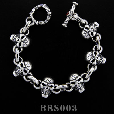 Jumped Side by Side Skull Bracelet