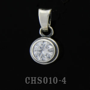 Teardrop Charm with Stone-Cubic Zirconium