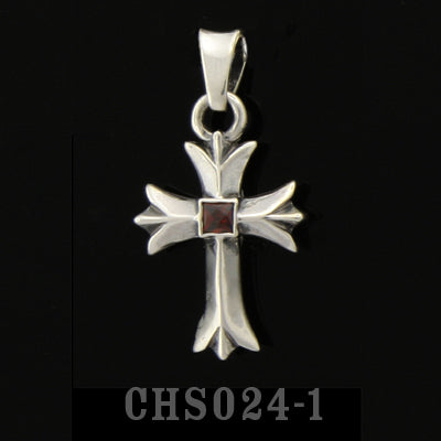 Sacred Cross Charm with Stone