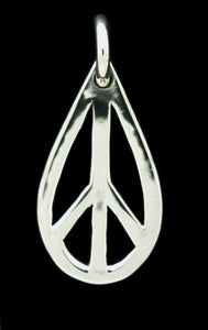 Tear Drop Peace Charm