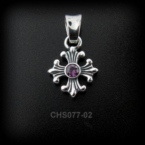 Liberty Cross Charm w/Stone CHS077-02