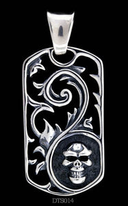 Ivy & Skull Dog Tag