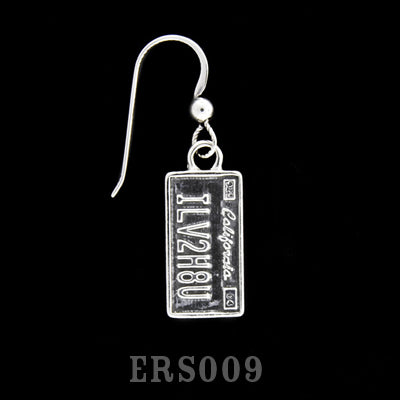 ILV2H8U License Plate Earring
